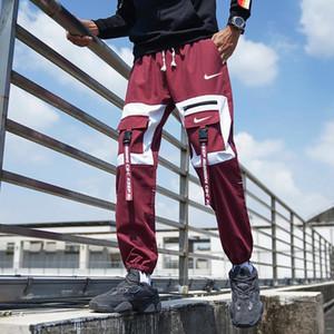 2019 Novas Joggers Pants Casual Men aptidão Sportswear Calça de Jogging magros Sweatpants Ginásios Calças pretas Jogger Track Pants A996