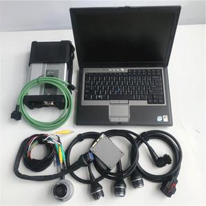 SD conecta C5 diagnóstico escáner Dell D630 utiliza el software del ordenador portátil MB estrella C4 C5 360G SSD añadió HHT para Mb vehículos antiguos diagnóstico