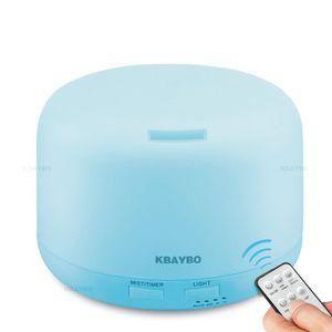 Kbaybo Uzaktan Kumanda 300ml Ultrasonik Hava Nemlendirici Aroma ile Renk Işıklar Elektrik Aromaterapi Uçucu Yağı Yayıcı Ev Q190601