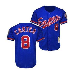 Cheap Montreal Expos Jersey Gary Carter Baseball Mitchell Ness Blue Retro Jersey Top Basketball jerseys