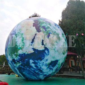 شحن مجاني 2 القطر نموذج قابل للنفخ القمر تضخيم شخصية الهواء مختومة القمر زخرفة الكرة الأرضية الكوكب