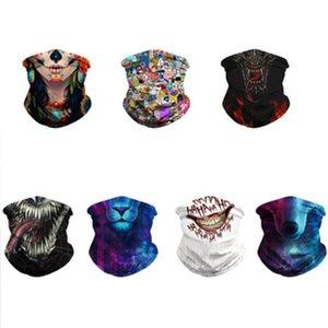 Hot Outdoor Sports Maschera elastico comodo respirabile Copricapo Clown leone strega del modello di guida Mask Hood fascia Wristband sciarpa magica