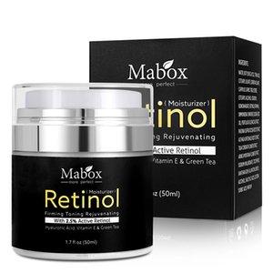 MABOX RETINOL 2,5% Feuchtigkeitscreme Gesichtscreme und -auge Vitamin E Beste Nacht- und Tag mit feuchtigkeitsspendender Sahne