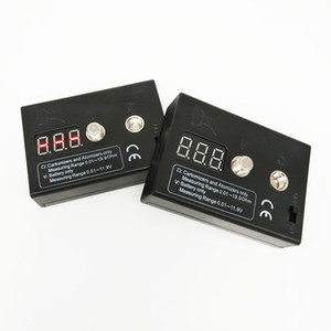 510 Vape pluma atomizador Resistencia Voltaje Dual Tester E uñas Vape probador de voltaje de la batería 510 Cartomizer caja Mod Medidor de resistencia