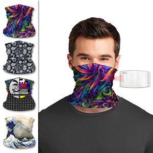 Bufanda de ciclo mascarilla diseñador al aire libre con bufandas mágicas pañuelo filtro de protección solar sombreros deporte banda de pelo de la venda de la bufanda multifuncional