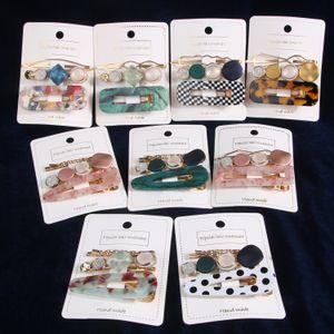 1 carte = 1 Set Femmes Mode Acetic Acid Hairpins Side clip Set Acrylique cheveux Barrettes Mode Barrettes Accessoires Bijoux 15 Couleurs