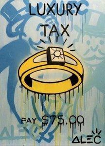 Alec Monopoly Banksy Graffit peinture à l'huile de taxe de luxe HD decores Imprimer Wall Art Home Decor sur haute qualité épais Toile G207