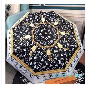 Proteção Sombra Camellia Flower Hot Umbrella Mulheres 3 vezes de Uv ensolarado e chuvoso Umbrella 8 cores