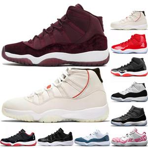 2020 YENİ 11 Basketbol Ayakkabı 11'leri Concord 45 Platin Ton Space Jam Salonu Kırmızı Win gibi 96 XI 11'leri Tasarımcı Sneakers yetiştirilen