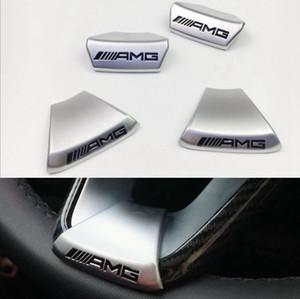 Para AMG Mercedes Benz W212 W211 W210 GLC GLA E200L C / E classe Volante do carro AMG LOGOTIPO Emblema Etiqueta Do Carro Edição de Esportes