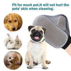 Pet Bequeme Grooming Glove Tier Langes Haar Hund Katze Muskeln entspannen Kamm Pet Bath Reinigungsbürste DDA37