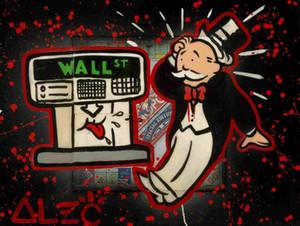 """ALEC MONOPOLY """"ATM MONOPOLY"""" 2014 Home Decor dipinto a mano HD Stampa Olio su tela di arte della parete della tela di canapa Immagini 200322"""