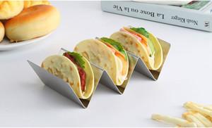Elegante supporto in acciaio inox Taco Stand Taco Truck Vassoio Styl0e Mexican Food Rack Forno Cassetta di sicurezza per la cottura Lavastoviglie trasporto libero