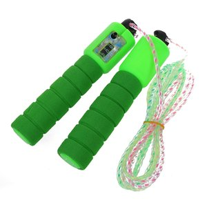Super sell-Training Exercise Nonslip Grip Counter Skipping Jumping Rope Green 2.5M