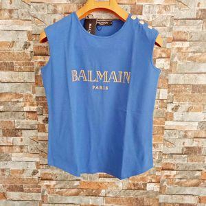 Balmain para mujer StylistT camisas para mujer del estilista Balmain Ropa raya de la manga corta de verano ropa de las mujeres del tamaño S-L