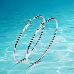 целые saleFashion 925 серебряные серьги, звезда любимые большие серьги, женщины ювелирные простые круглые серьги earrings.Hoop Свободная перевозка груза.