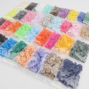 Lowest Price 500 Sets Baby Resin Snap Buttons KAM T5 12mm Plastic Snaps Clothing Accessories Press Stud Fasteners 15 colors