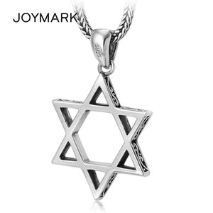 925 Sterling Silver Six-pointed Star Men and Women Necklace Pendant Simple Genuine Silver Pendant Trendy Jewelry TSP241