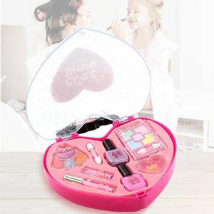 Childrens Makeup Toy Cute Pretend Play Beauty & Fashion Pretend Play and Dress-up Cosmetics Kit Toys Girls Makeup Tools Set Simulation Lipst