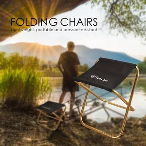 285g chaise pliante extérieur mini portable d'or Tabouret pliant Camping pêche de pique-nique BBQ sur la plage Tabourets Mini Seat Jardin @ 5