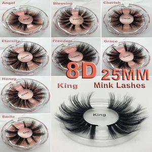 Nouveau 3d cils de vison 25mm long cils de vison 8D dramatique épaisse cils de vison à la main faux cils maquillage des yeux