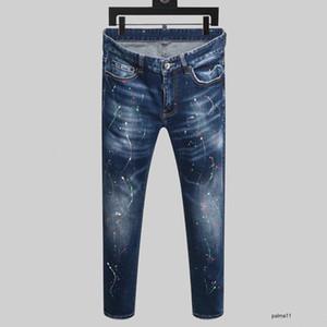 dsquared2 jeans ds2 QSQ Dsquared2 mens lüks tasarımcı kot siyah yırtık pantolon iyi sürümü moda İtalya marka bisiklet motosiklet kaya canlanma BikerJBFT denim
