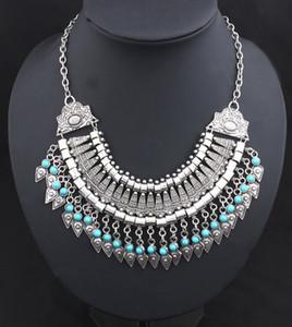 Mode-l geschnitzte Münze Retro- geschnitzte Münzlegierung Diamant-Halskette Pfeil Claviclekette Collarbone Ketten-hängende Halskette DHL-Weihnachtsgeschenk