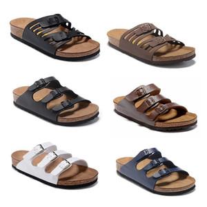 2020 Florida hombre de alta calidad verano de las mujeres de goma sandalias de playa diapositiva de la manera desgastes zapatos de los deslizadores de interior Tamaño 34-46