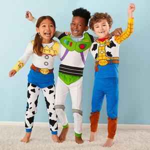 tenues concepteur enfants garçons pyjama détail Survêtements filles dessin animé de Noël costumes pantalons de jogging set (tshirt + pantalon) vêtements de nuit design