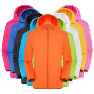 Men's Women Casual Jackets Windproof Ultra-Light Rainproof Windbreaker Top Riding Tops Sun Protection Jackets Clothing T200520