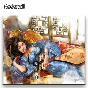 Diamond Painting Japanese woman wallpaper DIY Mosaic Diamond Cross stitch 5d Diamond Embroidery Child puzzle Decoration TT690