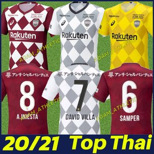2020 Japon J1 League Vissel maillot de football DAVID VILLA chemises de football A.INIESTA PODOLSKI SAMPER uniforme camiseta adulte de A.INIESTA 20/21