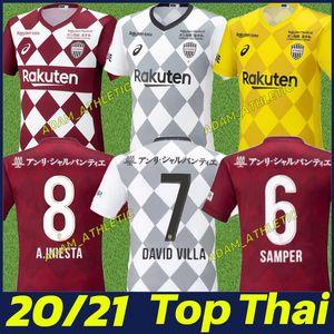 2020 Japonya J1 Lig Vissel futbol forması DAVID VILLA A.INIESTA formalarını Podolski SAMPER üniforma yetişkin camiseta de A.INIESTA 20/21