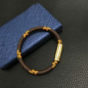 Braccialetti in pelle di marca Gioielli per donna Uomo Braccialetti di design in acciaio inossidabile 316L Braccialetti Accessori Regalo di Natale Festa della mamma