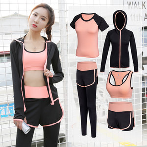 Women Tracksuit Yoga Set Solid Patchwork Running Fitness Jogging T-shirt Leggings Gym Sports Suit Sportswear Gym Clothes S-2XL