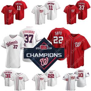2020 New Washington 22 Juan Soto Nationals camisa 31 Max Scherzer 7 Trea Turner 6 Anthony Rendon Harper Wilmer Difo Zimmerman