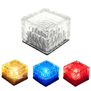 Garden Courtyard Yolu Avlu Dış Dekorasyon Isınma Beyaz Light Serici Gömülü Güneş buz lambası Güneş Buz Işık Ice Cube Işıklar