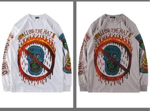Uomini E Streetwear maniche lunghe T-shirt donna con cappuccio originale design sportivo una perfetta qualità di stile di Hip-hop Very Cool Norwet