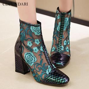 CDPUNDARI été cheville bottes pour femmes bottes à talons hauts Chaussures pour dames femme chaussure femme