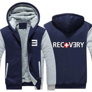Eminem Sweatshirt Winter Hoodies Cotton Coat Sportswear Hoodie Zipper Jacket thicken fleece hoodie Super Warm Sweatshirt EU Size