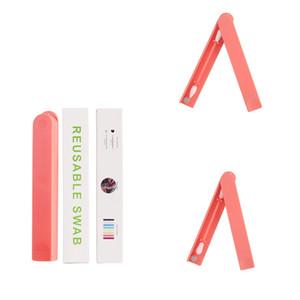Wiederverwendbare Wattestäbchen Ohrreinigungswerkzeug kosmetischer Wattestäbchen-Silikon-Tupfer für Waschen Make-up und Ausbesserungen MMA2266