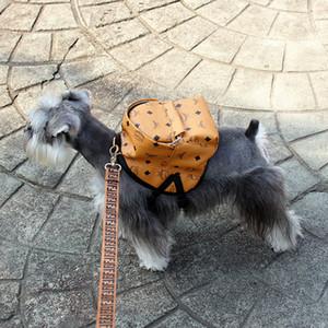 Fashion Dog Pet Zaini personalità casuale stampato il gatto del cane Mini Bag Teddy Bulldog Schnauzer Accessori Outdoor