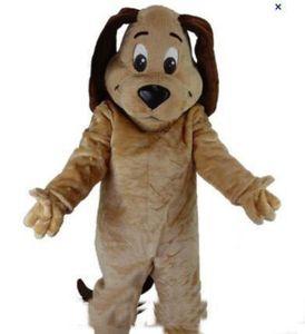 Toptan-fabrika satış yeni TAN KÖPEK MASCOT BAŞ Kostüm Hayvan Tema Kostümler ücretsiz kargo