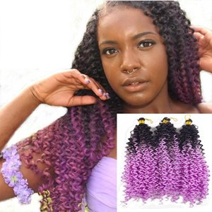 A Water Wave Synthetic Crochet Braids Fashion Ombre Two Tone Colors Fiber Twist Hair Extensions 100g  Pack 14 Inch