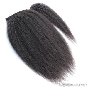 VM Бразильских кутикулы выравнивание 100г 120г коготь Clip In кудрявый хвостик Staight Дева волосы Кусочки хвощ Wrap Around Ponytail человеческих волос