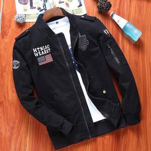 Homens Jacket Top Moda Casual Outdoor Militar Macacões jaqueta de algodão revestimento de alta qualidade 3 Cor Selecionada Tamanho: M-4XL