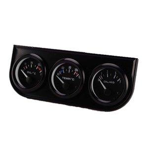 سيارة 52 ملليمتر الثلاثي عدة النفط temp gauge water temp gauge temperature النفط مقياس الضغط الاستشعار 3in1 سيارة متر