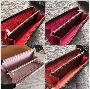 Uzun cüzdan En kaliteli orijinal deri klasik tasarımcı cüzdan moda deri uzun çanta para çanta fermuar kese para cebi not tasarımcı