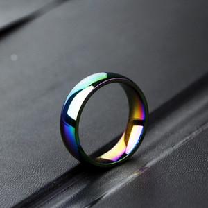 Homme Femme Rainbow Coloré Pulsera Bague En Acier Inoxydable Bande De Mariage Couple Rings Drop Shitch
