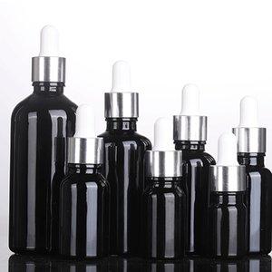 Glass Empty Dropper Bottle 5ml-100ml For Essential Oils Black E-liquid Glass Dropper Bottles Wholesale For E Cigarette Cosmetics